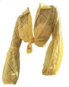 yellow tied shirt