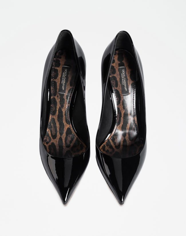 Patent Leather Pump With Leopard Sole - Women   Dolce&Gabbana