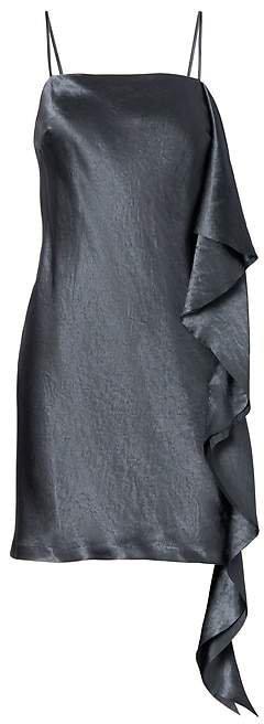 Heritage Side-Ruffle Slip Dress
