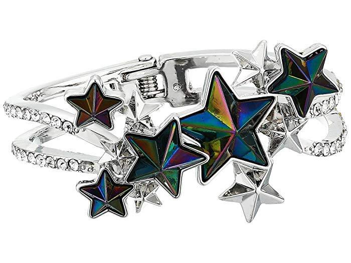Betsey Johnson Star Hinged Bangle Bracelet