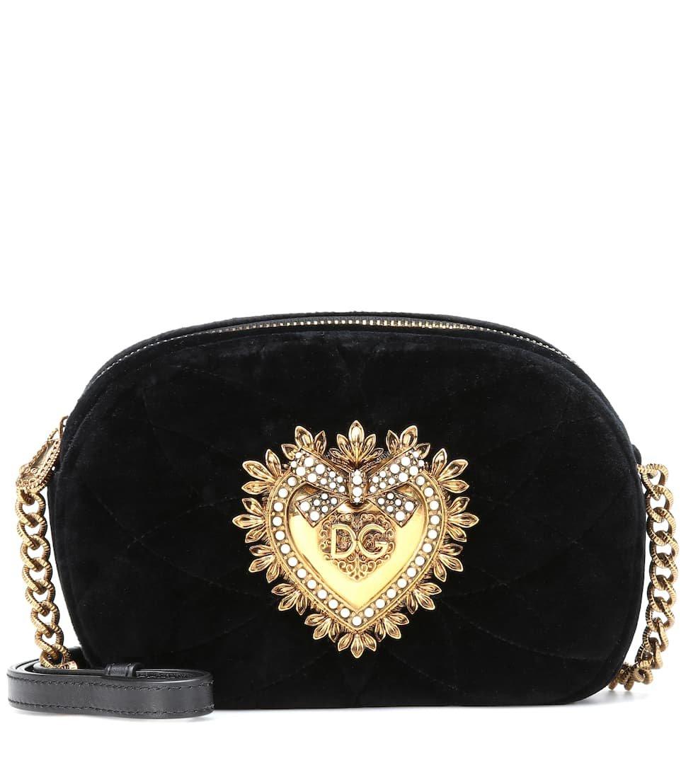 Devotion Camera Velvet Shoulder Bag - Dolce & Gabbana   Mytheresa