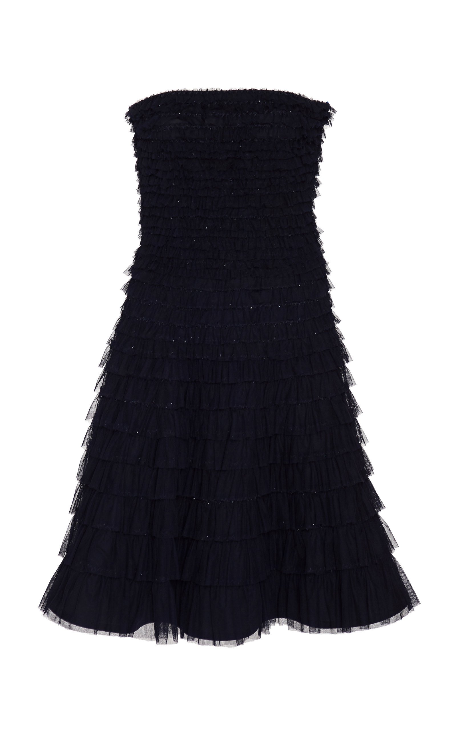 Ralph Lauren Jordynn Tiered Tulle Strapless Dress