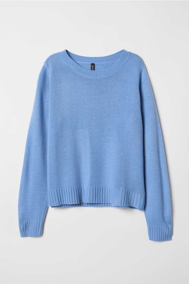 Knit Sweater - Blue | H&M US