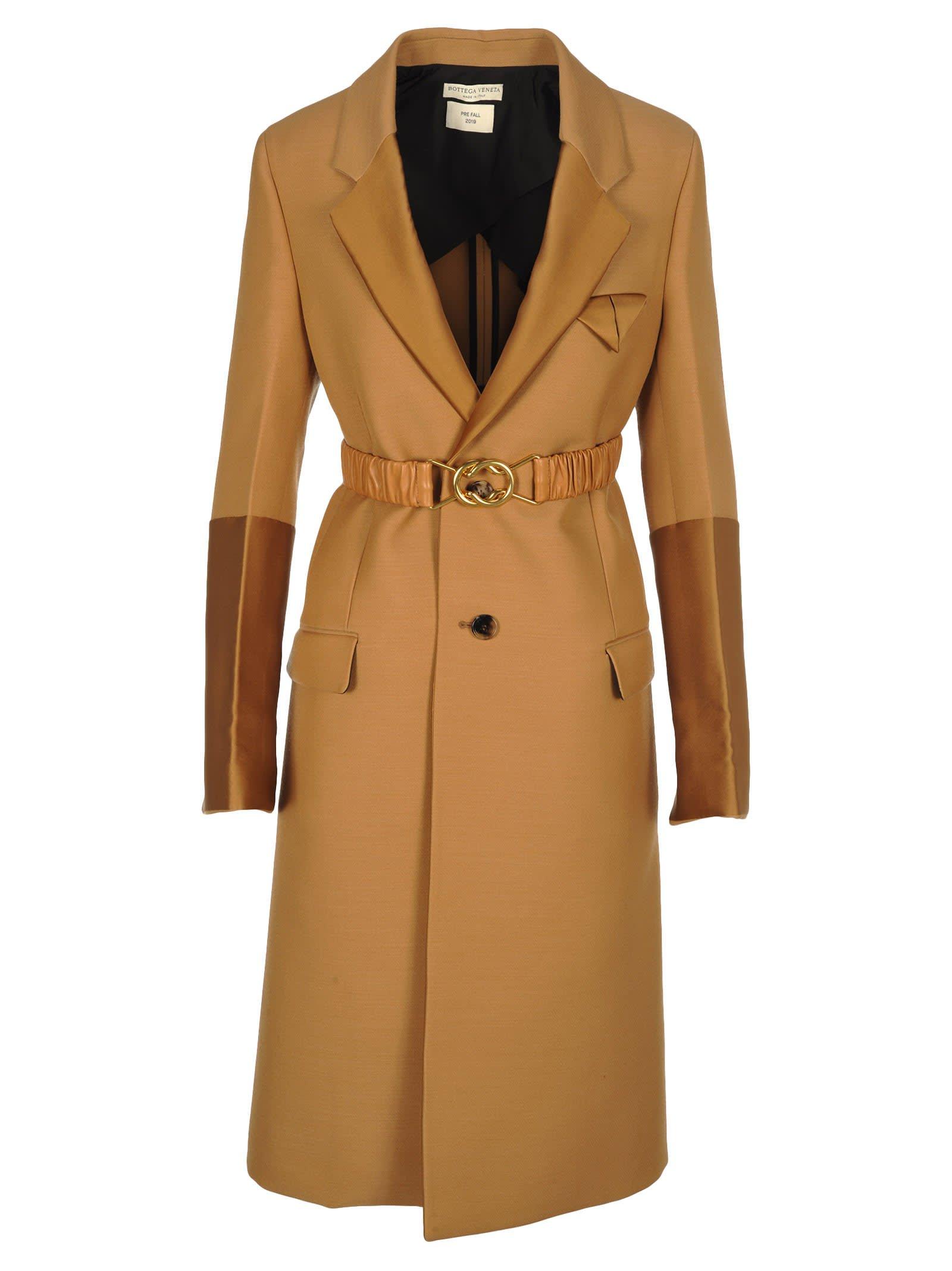 Bottega Veneta Wool Coat With Scuba Duchesse Details