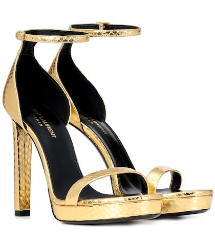 Hall snakeskin sandals
