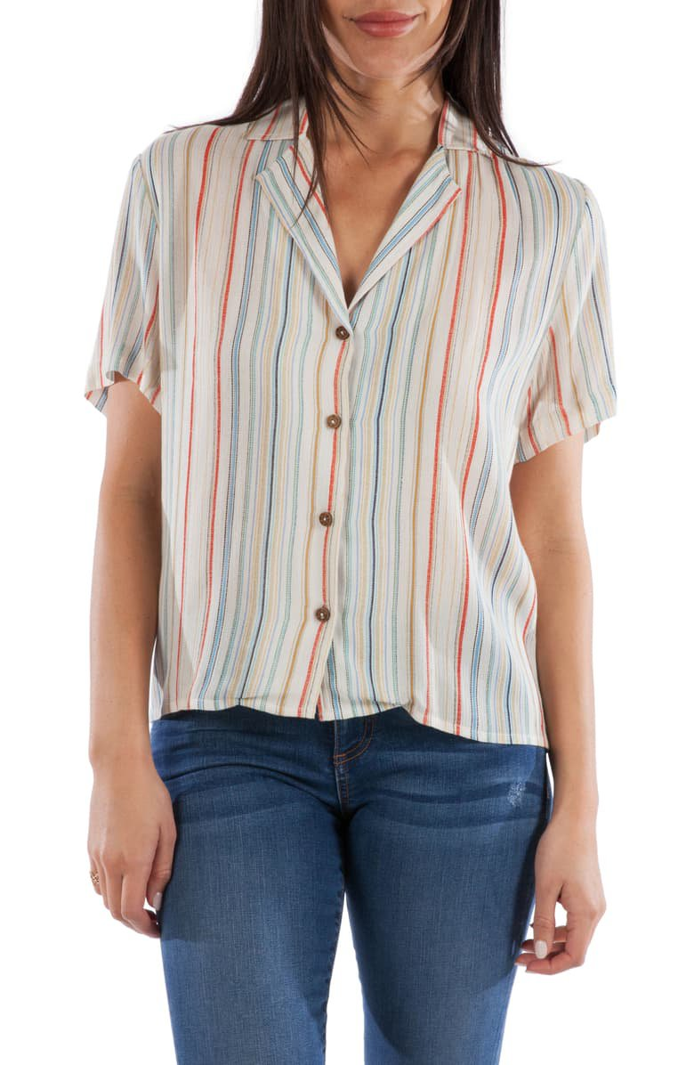 KUT from the Kloth Rakel Stripe Button Down Blouse | Nordstrom