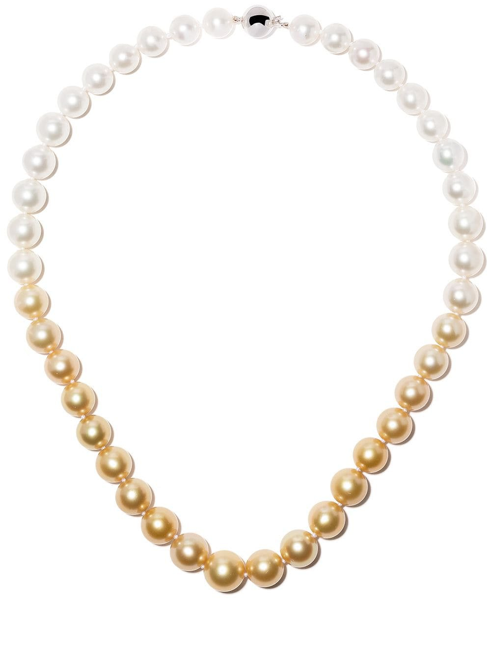 Yoko London 18kt White Gold Ombré South Sea Pearl Necklace - Farfetch