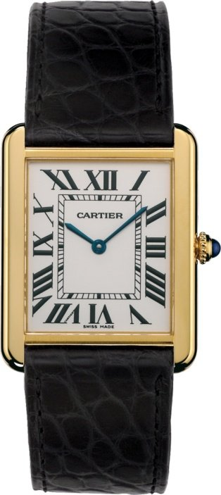 CRW5200004 - Tank Solo watch - Large model, 18K yellow gold, leather - Cartier