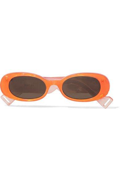 Gucci | Oval-frame acetate sunglasses | NET-A-PORTER.COM