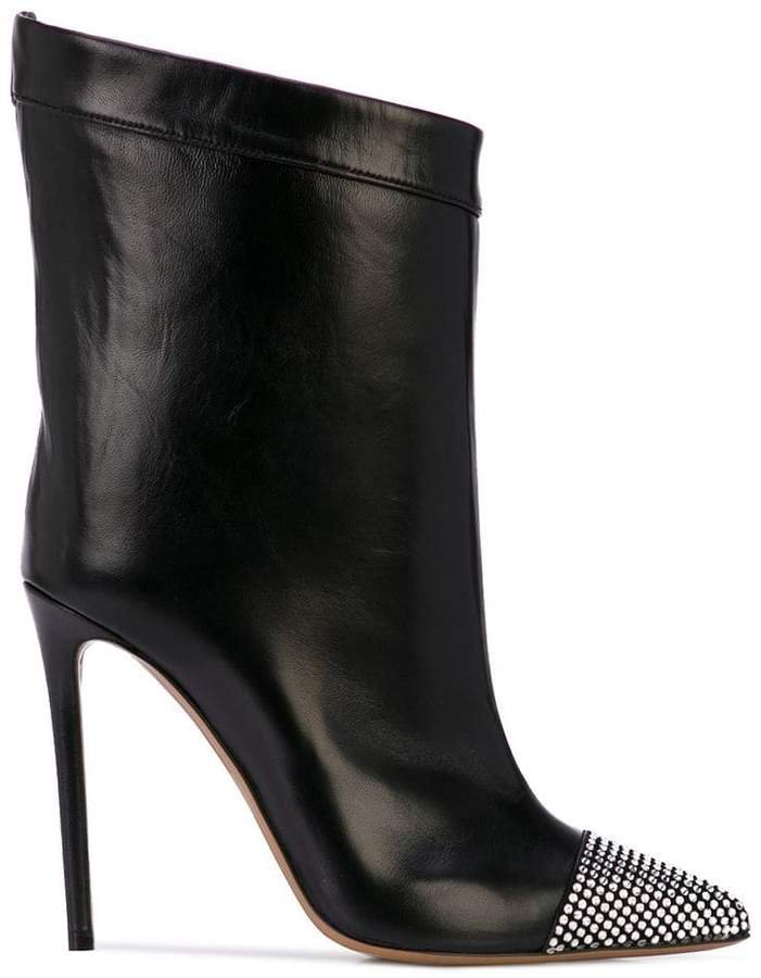 crystal embellished ankle boots