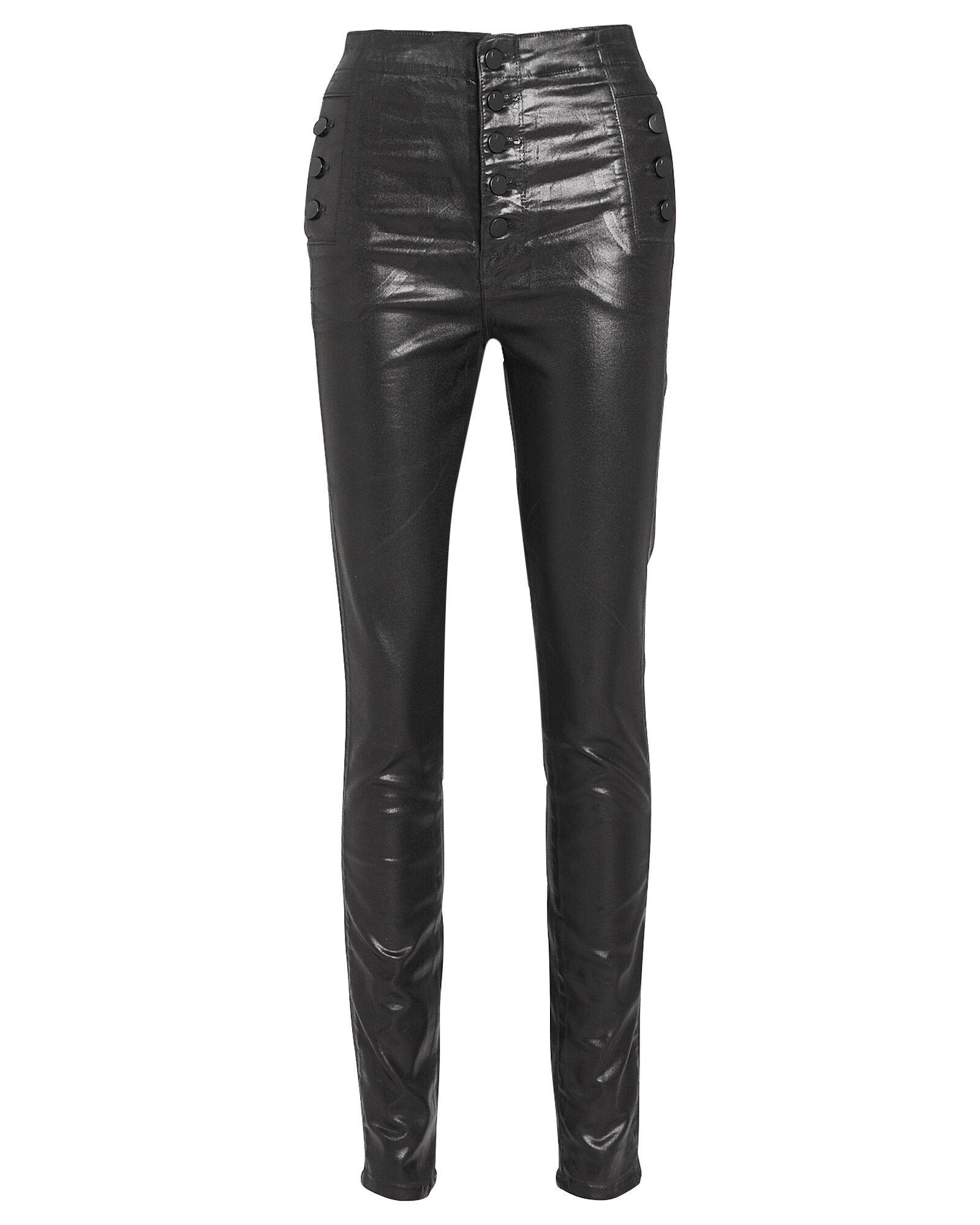 Women's Skinny Black Leather Pants | J Brand