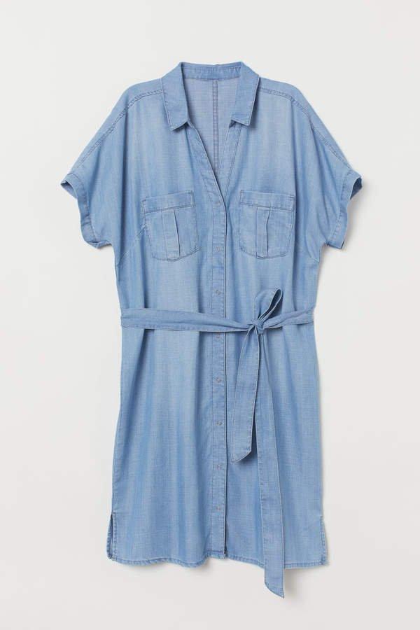Shirt Dress - Blue