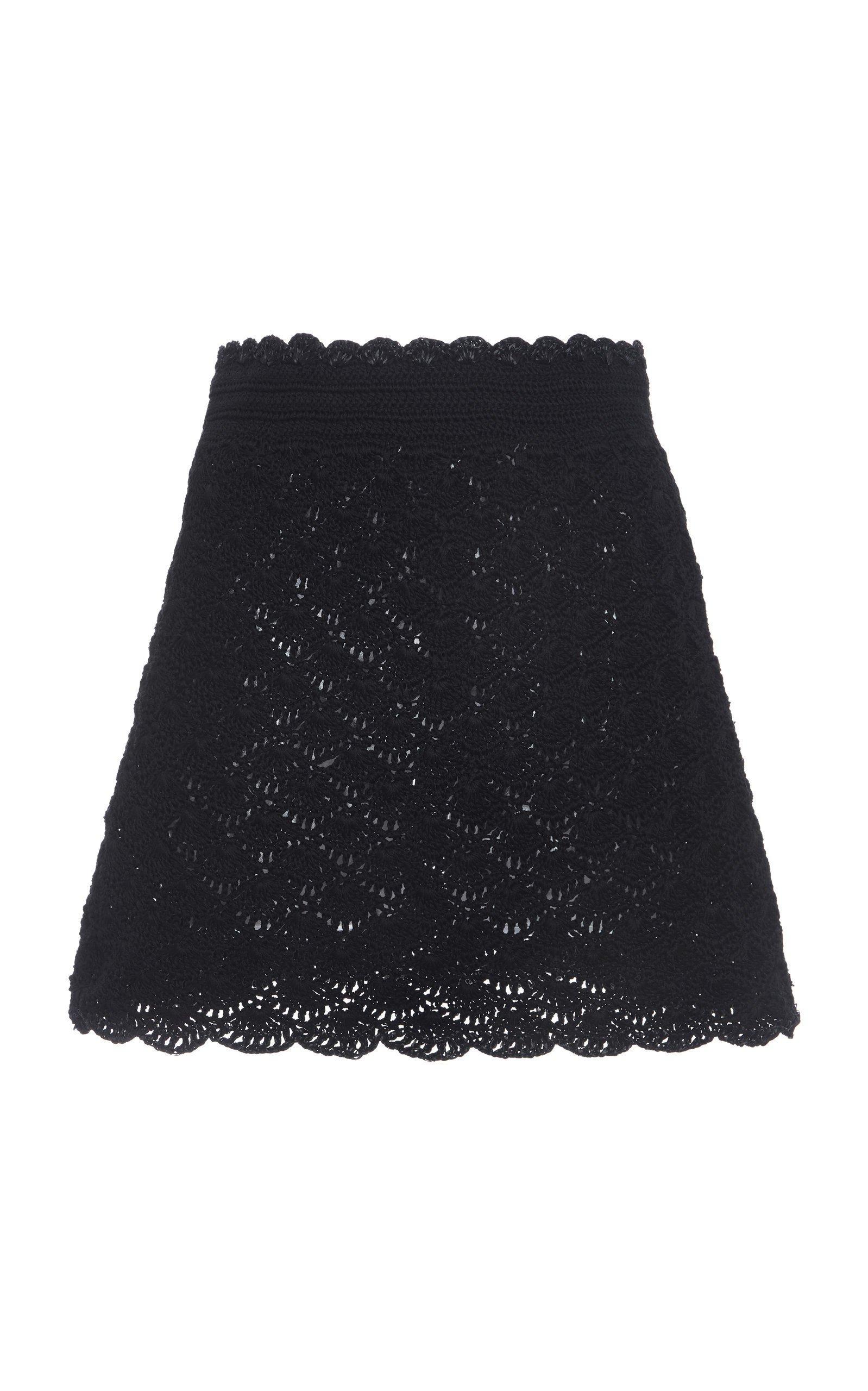Dolce & Gabbana Crochet-Knit Mini Skirt Size: 36