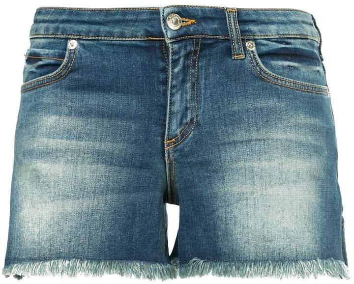 contrast pocket denim shorts