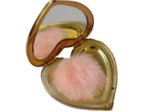 Gold heart compact