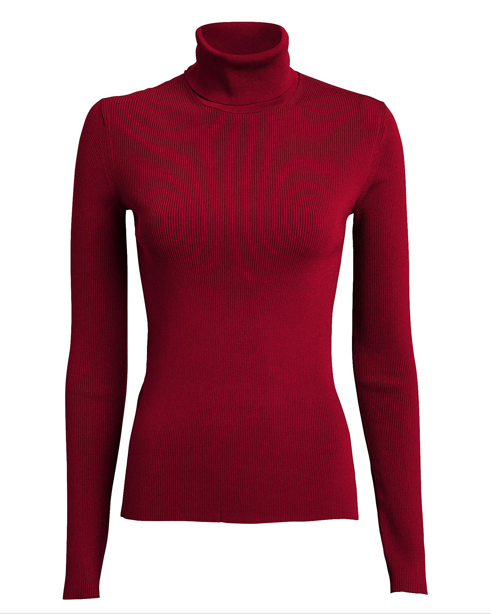 Ribbed Stretch Turtleneck Top