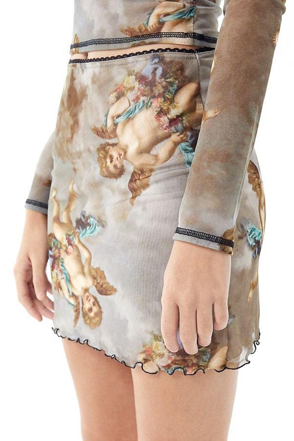 UO Cherub Mesh Mini Skirt | Urban Outfitters