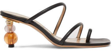 Noli Leather Sandals - Black