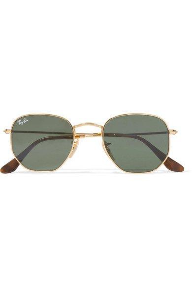 Ray-Ban | Hexagon-frame gold-tone sunglasses | NET-A-PORTER.COM