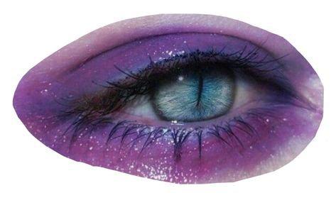 purple eyeshadow blue eyes png filler