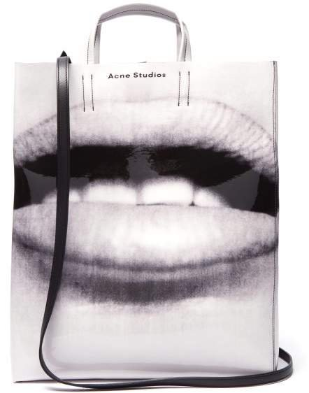 Baker Large Lips Print Pvc Tote - Womens - Black White