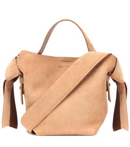 Musubi Mini suede shoulder bag