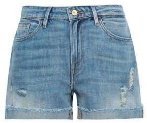 Le Grand Garcon Distressed Denim Shorts
