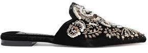Urtin Embellished Velvet Slippers