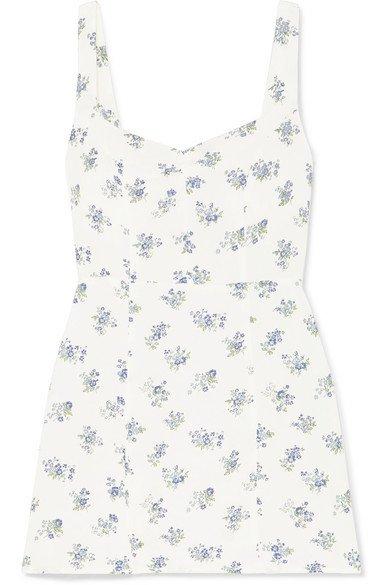 Reformation | Fairfax floral-print crepe mini dress | NET-A-PORTER.COM