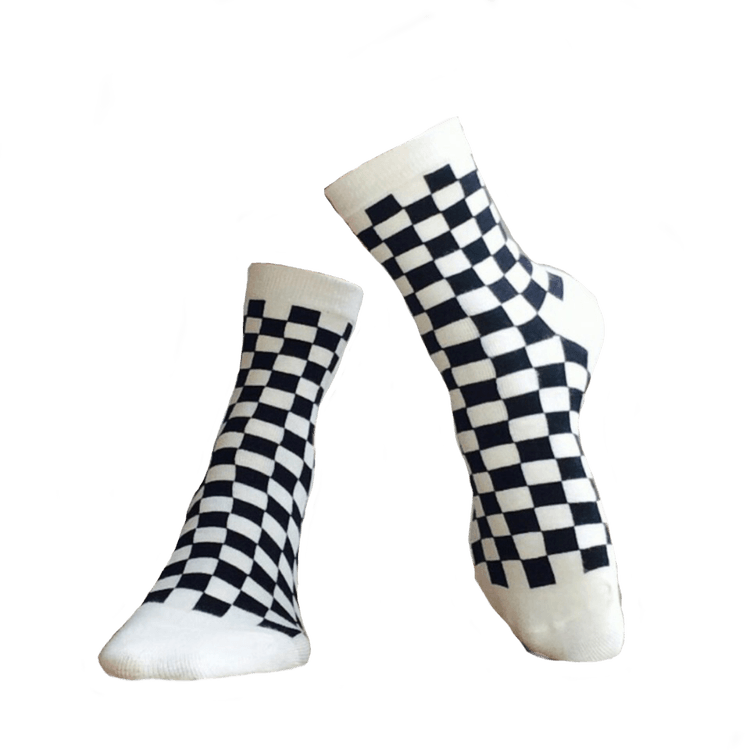 vans checkered socks discovered by niko on We Heart It
