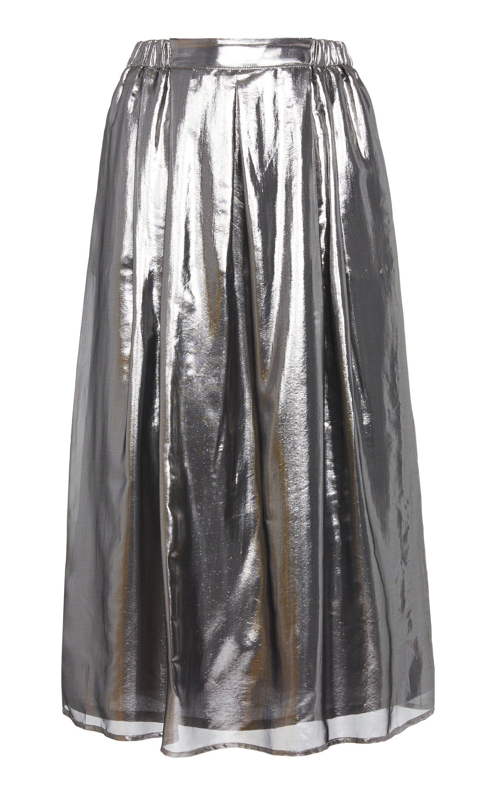Roseanna Light Metallic Midi Skirt