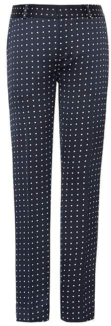 Avery Straight-Fit Polka Dot Ankle Pant