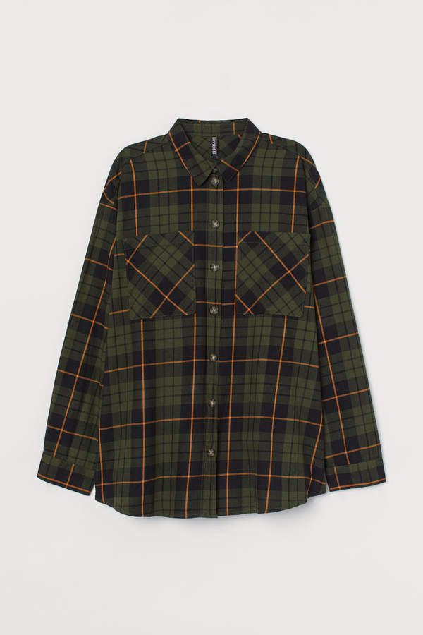 Checked Cotton Shirt - Green
