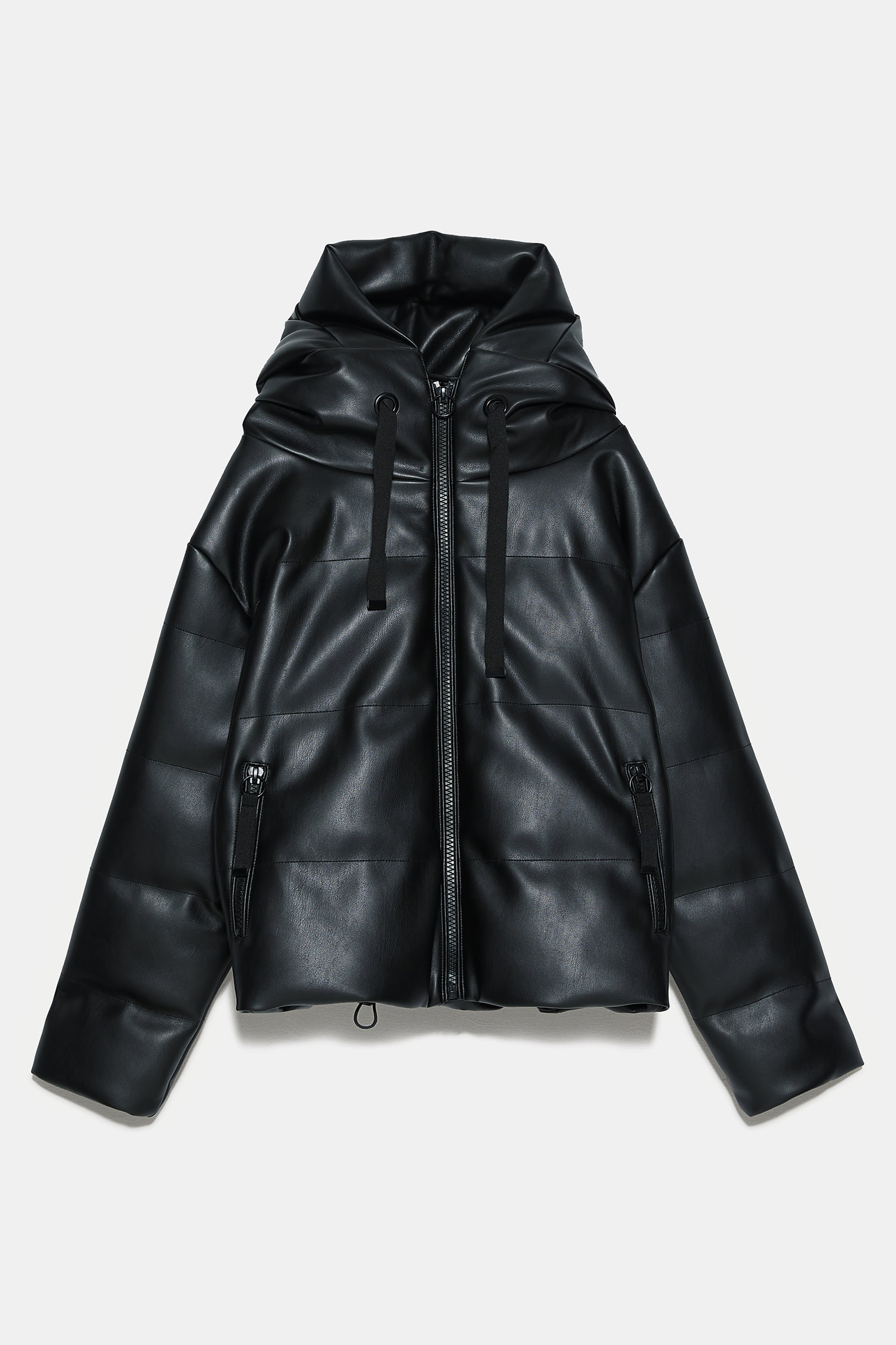 FAUX LEATHER JACKET - Leather Jackets- puffer