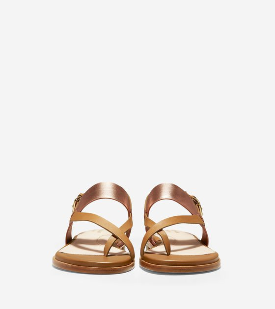 Women's Anica Thong Sandals in Gold   Cole Haan