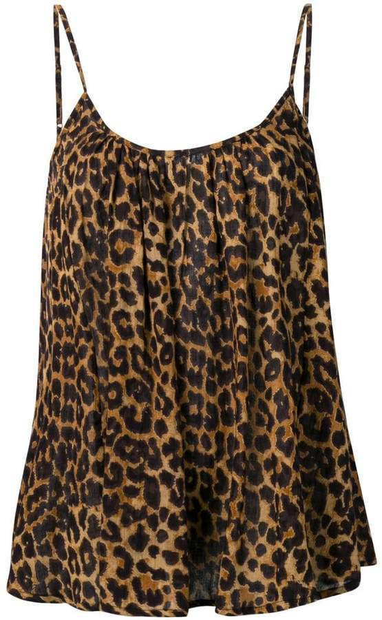 leopard-print camisole