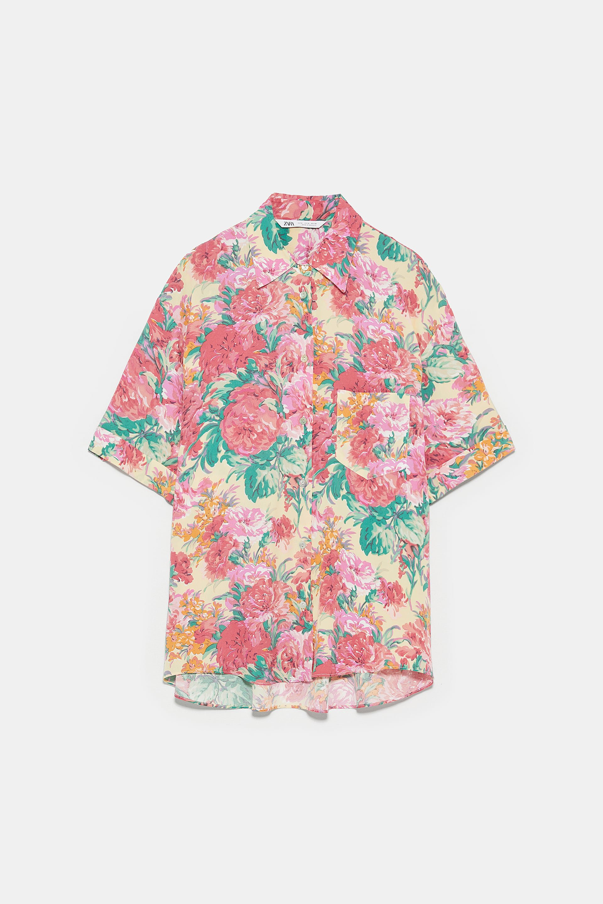 PRINTED BLOUSE - View All-SHIRTS | BLOUSES-WOMAN | ZARA United States