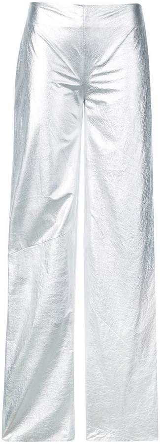 Rubin Singer metallic loose fit trousers