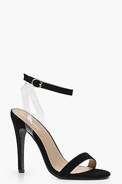 Ella Clear Strap Barely There Heels
