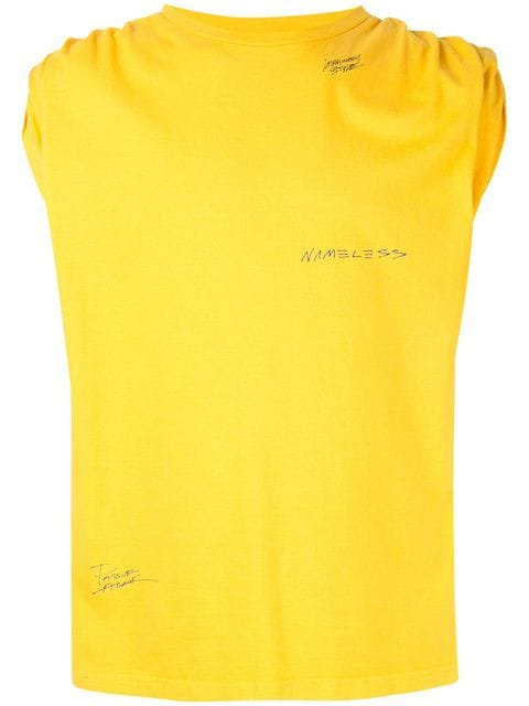 Ground Zero roll-sleeves tank top $246 - Buy Online - Mobile Friendly, Fast Delivery, Price