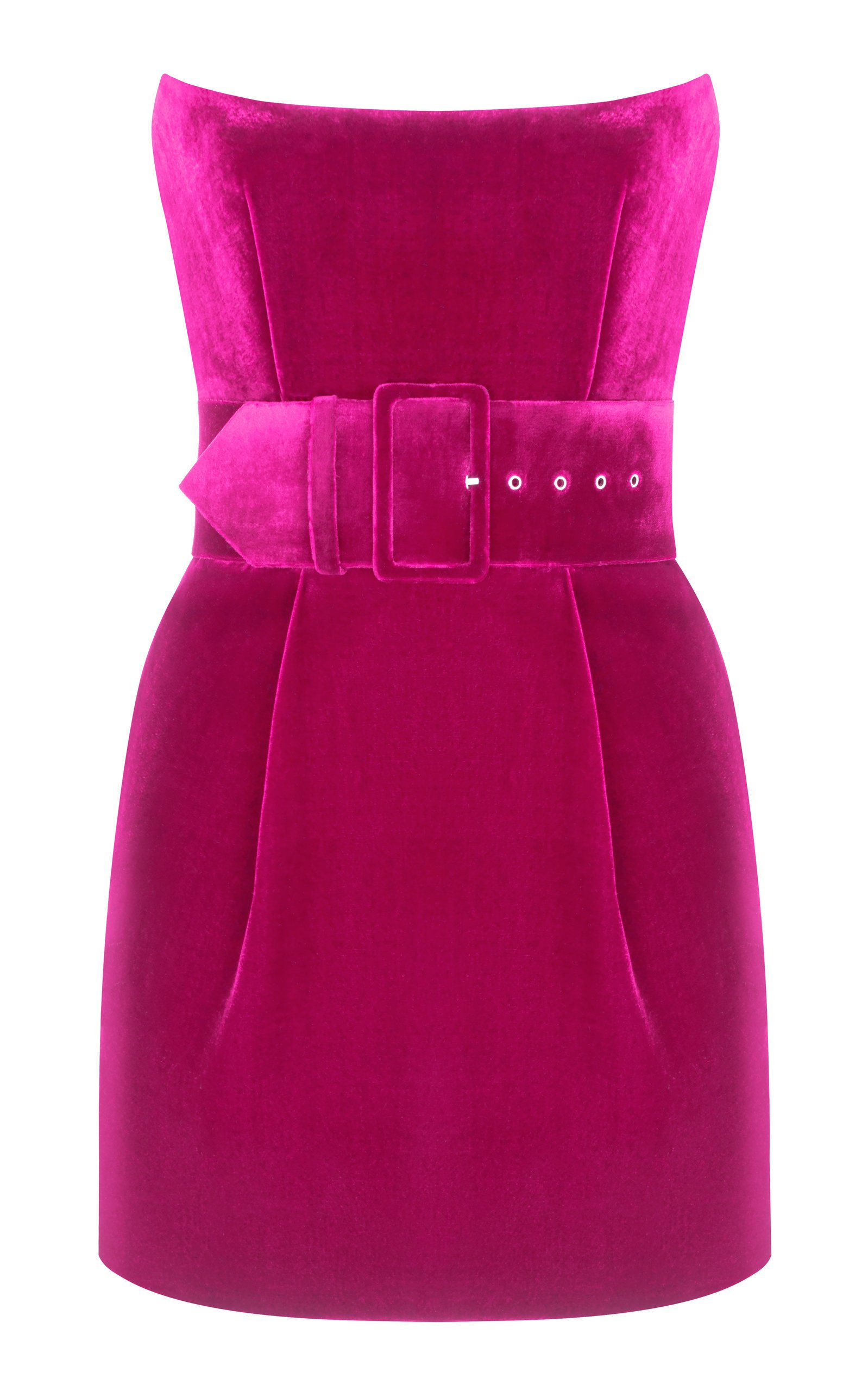 Rasario Belted Velvet Mini Dress