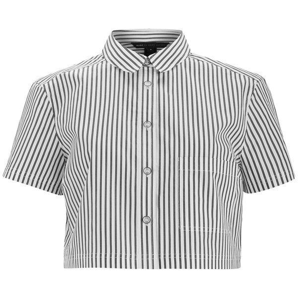 Marc by Marc Jacobs Women's Button Up Crop Shirt
