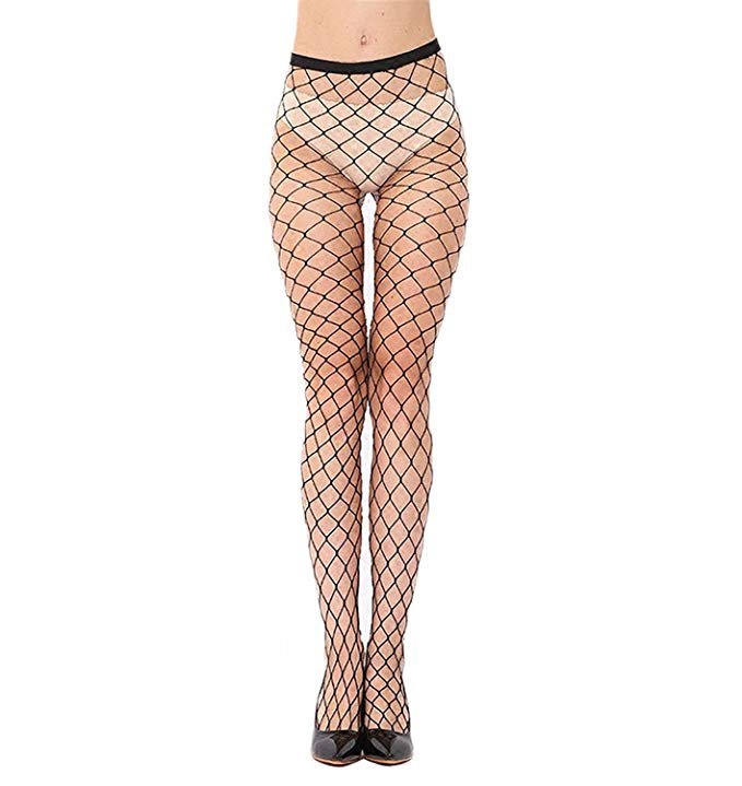 Women's Sexy High Waist Fishnet Tights Fishnet Hollow Out Hight Tights Stockings Pantyhose 1 Pair at Amazon Women's Clothing store: