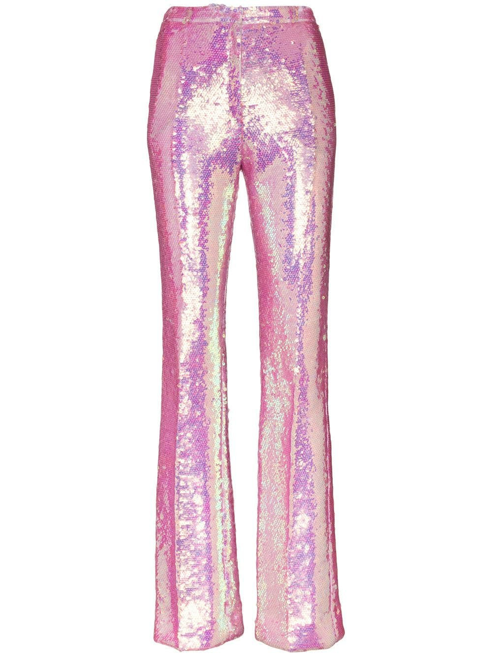 Paco Rabanne high-waist Sequinned Trousers - Farfetch