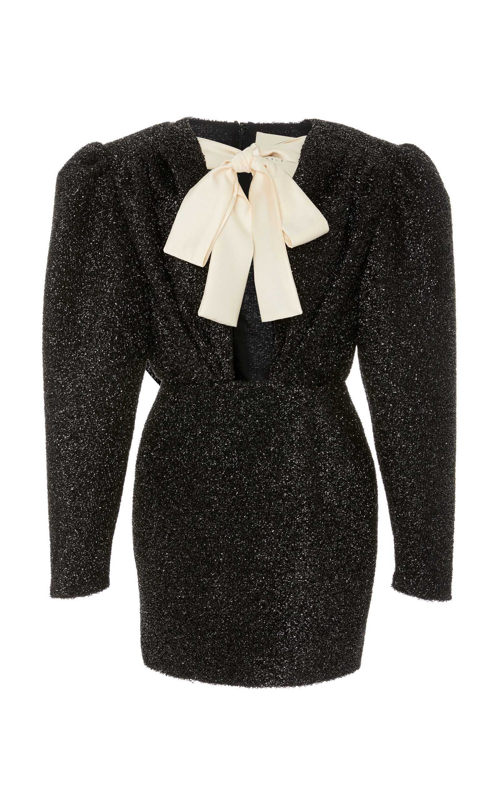 Daniele Carlotta Blouson Sleeve Shimmer Mini Dress
