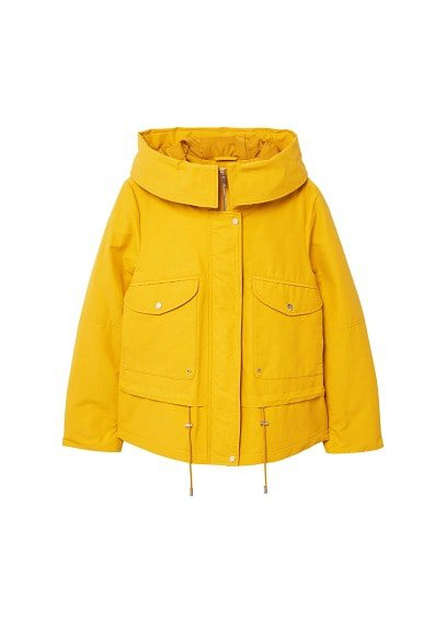 MANGO Pockets cotton parka