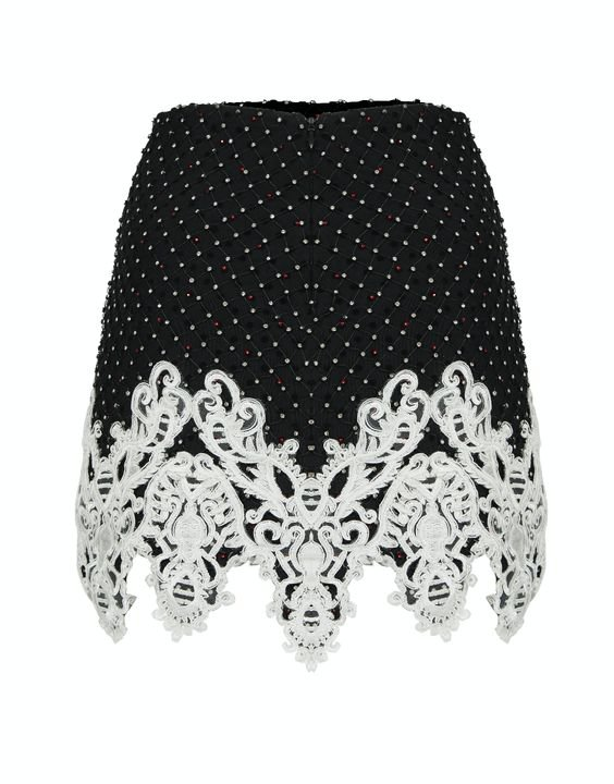 RaisaVanessa embellished skirt