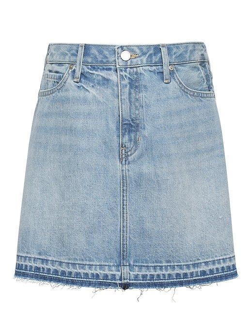 Petite Denim Mini Skirt   Banana Republic blue