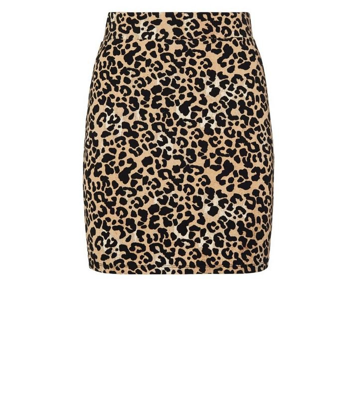 Brown Leopard Print Tube Skirt | New Look