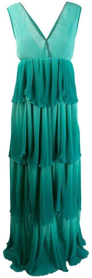 tiered evening dress